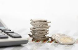 Finance and stacked coins Royalty Free Stock Photo