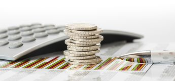 Finance and stacked coins royalty free stock photos
