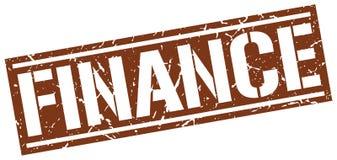 Finance stamp. Finance square grunge sign isolated on white.  finance Stock Illustration