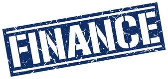 Finance stamp. Finance square grunge sign isolated on white.  finance Vector Illustration