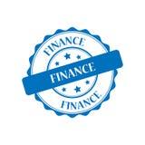 Finance stamp illustration. Finance blue stamp seal illustration design Royalty Free Illustration