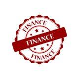 Finance stamp illustration. Finance red stamp seal illustration design Royalty Free Stock Photo