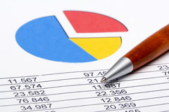 Finance Statistic 1. Analyzing financial form data pencil Stock Photo