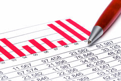 Finance Statistic 2. Analyzing financial form data pencil Stock Photos