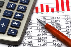Finance Statistic 4. Analyzing financial form data pencil Stock Images