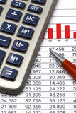 Finance Statistic 5. Analyzing financial form data pencil calculator Stock Photos