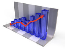 Finance statistic Stock Images