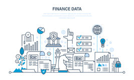 Finance and statistical data, security of payment, business planning, investment. Royalty Free Stock Image