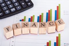 Finance and statistics Stock Photography
