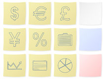 Finance sticker. Finance icon set on a white background. Vector illustration Stock Image