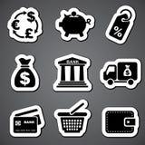 Finance sticker  label Stock Photo