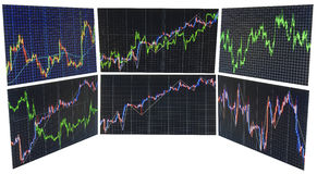Finance stock exchange background. Stock market quotes graph chart Royalty Free Stock Photo