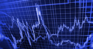 Finance stock exchange background. Stock market quotes graph chart Royalty Free Stock Photos