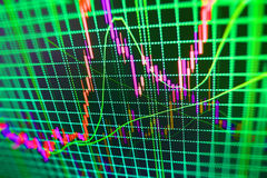 Finance stock exchange background. Stock market quotes graph chart Royalty Free Stock Photography