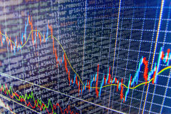 Finance stock exchange background. Stock market quotes graph chart Stock Photos