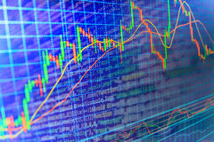 Finance stock exchange background. Stock market quotes graph chart Royalty Free Stock Images