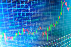 Finance stock exchange background Stock Image