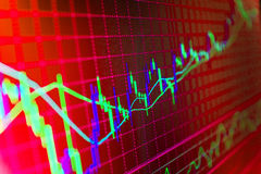 Finance stock exchange background. Stock market quotes graph chart Stock Photo