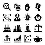 Finance Stock Exchange icon set. Vector illustration Graphic Design Royalty Free Stock Images