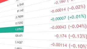 Finance or stock market background with digits and percents. 3d rendering Stock Images