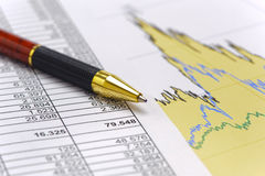 Finance and stock market with chart Stock Photos