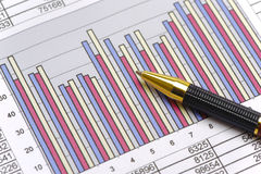 Finance and stock market with chart Royalty Free Stock Images