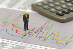 Finance and stock market with chart Stock Image