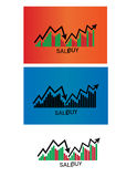 Finance stock trading icon. Finance stock 3 trading icon Stock Images