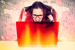 Finance stress Royalty Free Stock Images