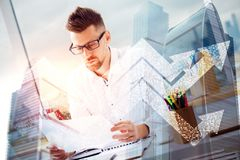 Finance and success concept stock photo