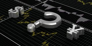 Finance symbols Stock Images