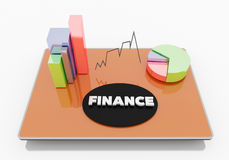 Finance on Tablet. Business internet and technology concept Stock Photography