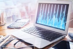 Finance and technology concept Royalty Free Stock Photography