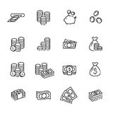 Finance thin line icon set 1, vector eps10.  Royalty Free Stock Photo