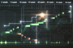Finance and trade concept. Abstract forex chart background. Finance and trade concept. 3D Rendering Royalty Free Stock Photo