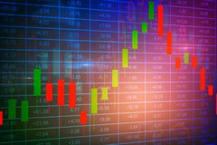 Finance and trade concept. Colorful forex background. Finance and trade concept. 3D Rendering Stock Images