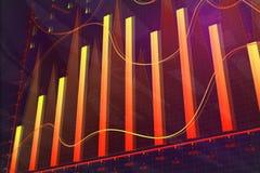 Finance and trade concept. Creative colorful forex chart background. Finance and trade concept. 3D Rendering Stock Photos