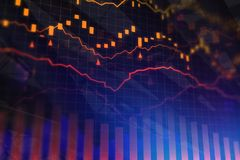 Finance and trade concept. Creative forex chart background. Finance and trade concept. 3D Rendering Stock Photos