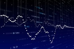 Finance and trade wallpaper. Abstract forex chart wallpaper. Finance and trade concept. 3D Rendering Stock Photography