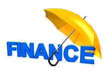 Finance umbrella Royalty Free Stock Images