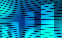 Finance up. Blue background with graphic of finance. Abstract illustration Stock Photography
