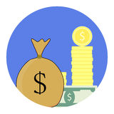 Finance vector icon Royalty Free Stock Image