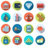 Finance vector icons. A set of business and finance flat vector icons Stock Photography