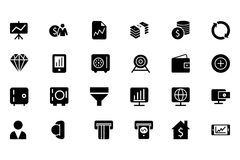 Finance Vector Solid Icons 3 Royalty Free Stock Photo