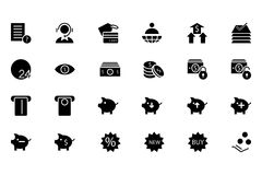 Finance Vector Solid Icons 10 Stock Image