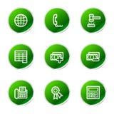 Finance web 2 icons Royalty Free Stock Photos