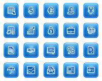 Finance web icons Stock Image