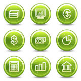 Finance web icons Royalty Free Stock Image
