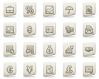 Finance web icons, document series Royalty Free Stock Photo