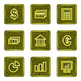 Finance web icons, electronics card series. Vector web icons, electronic buttons series Stock Photos